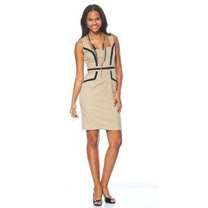 XOXO Sheath Dress Chaville Beige Black Sleeveless